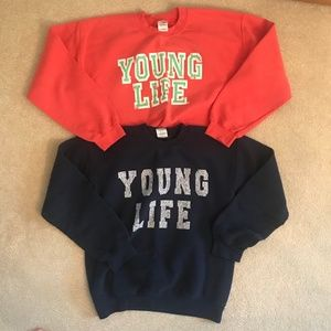 young life crewneck sweatshirt bundle